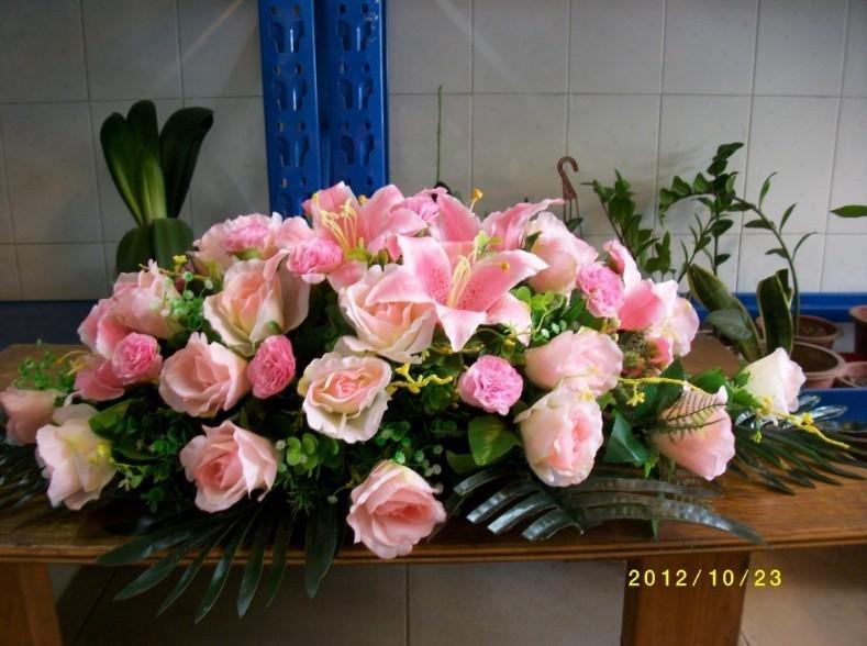 石夏兰仿真花桌花讲台花鲜花图片展示
