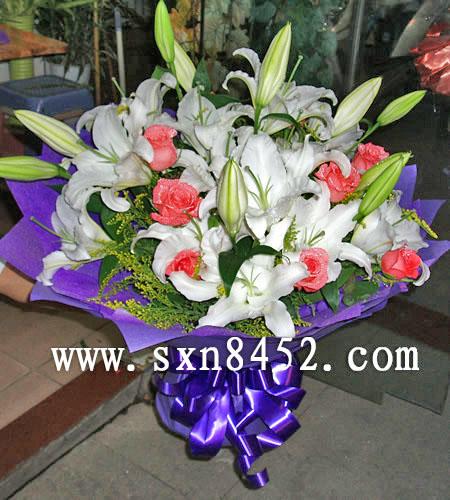 石夏兰【百年好合,百事如意】,新婚祝贺鲜花鲜花图片展示