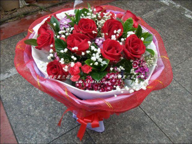 石夏兰百合花,深圳福田,沙咀路鲜花店,订生日,情人,特区,送花,红玫瑰鲜花,礼品花,11朵红玫瑰鲜花图片展示