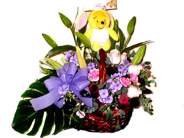 石夏兰儿童生日鲜花篮鲜花图片展示