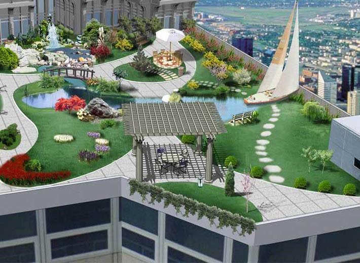石夏兰屋面鲜花图片展示。