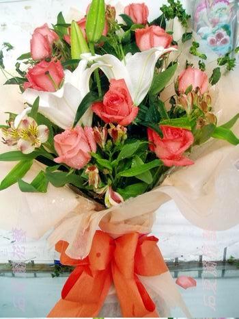 石夏兰团队之,激情】香水百合鲜花图片展示。