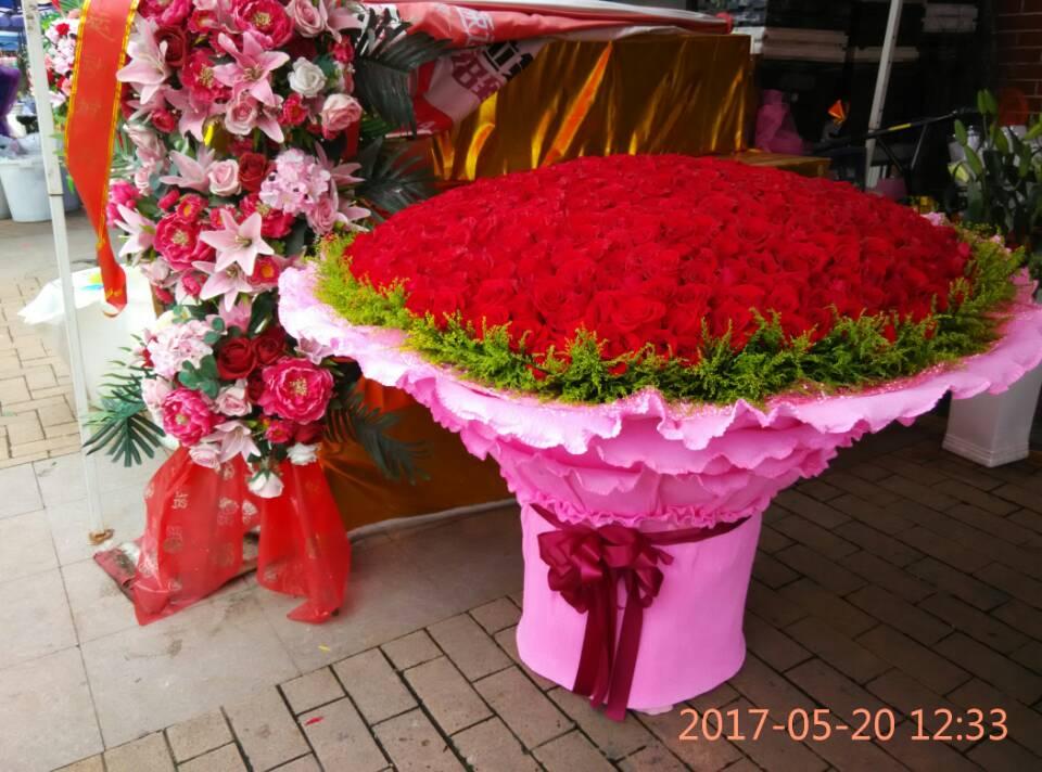 石夏兰一生一世,求婚仪式用花,1314朵红玫瑰花,深圳,爱情见证,鲜花,福田店,预定鲜花图片展示