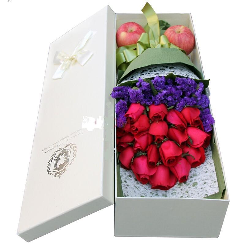 石夏兰平安夜,花束,圣诞节鲜花,苹果鲜花,19朵红玫瑰,2个苹果,深圳福田,礼盒圣诞花鲜花图片展示。