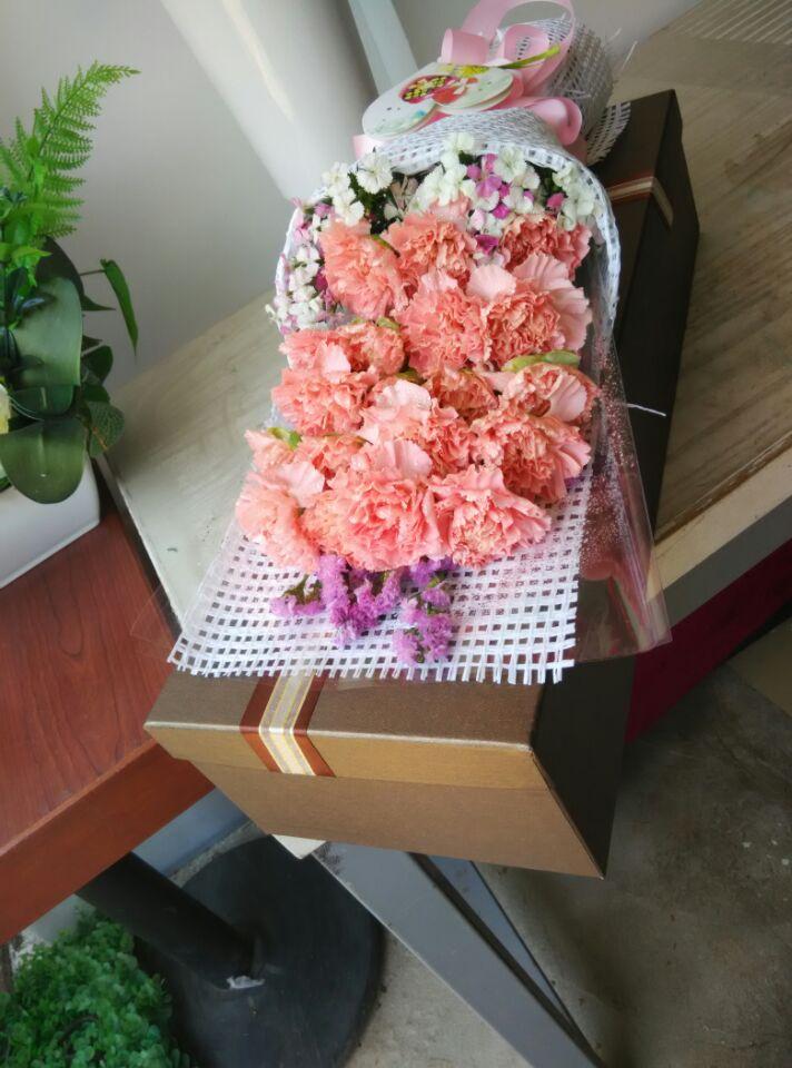 石夏兰【慈爱】*19朵红色康乃馨鲜花图片展示。