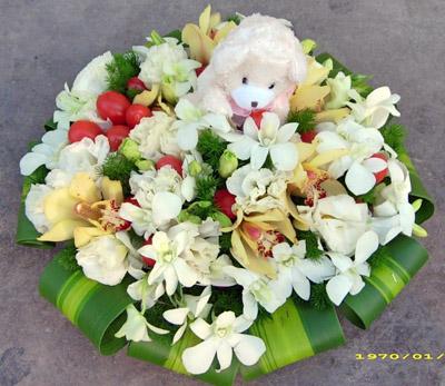 石夏兰儿童鲜花,洋桔梗,小百合花,花篮,儿童生日送花篮,升学花篮,金牌奖鲜花鲜花图片展示