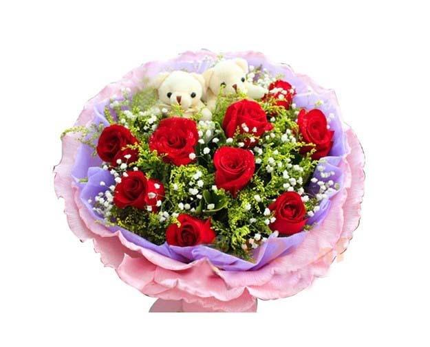石夏兰特价红玫瑰鲜花图片展示。