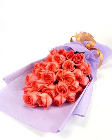石夏兰【恋之初】*29朵粉玫瑰爱情生日鲜花图片展示。