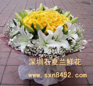 石夏兰父亲节给父亲鲜花图片展示。