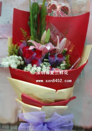 石夏兰无尽的祝福,7朵红玫瑰,生日花束,探望花束,祝贺花束,接机花束,接站花束,水围,鲜花速递鲜花图片展示。