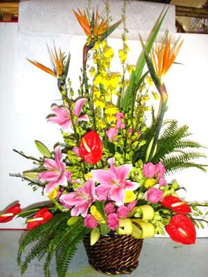 石夏兰办公室插花【平步青云】鲜花图片展示