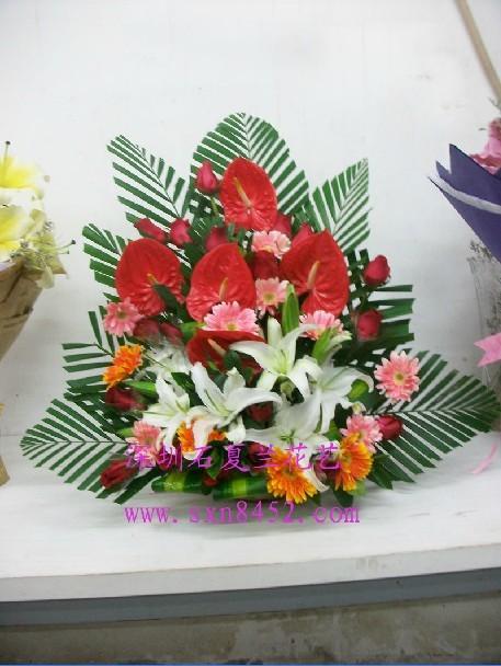 石夏兰办公室花篮鲜花图片展示。