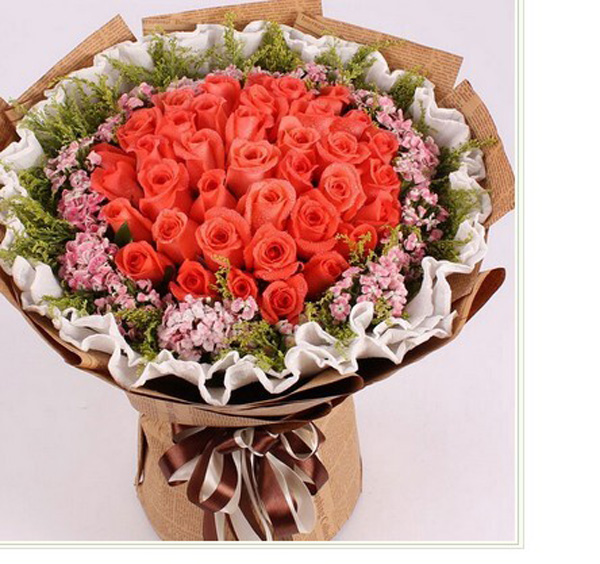 石夏兰66朵粉玫瑰花,送花,生日,祝福鲜花,预订,深圳花店,福田,罗湖,好色彩,鲜花店鲜花图片展示。