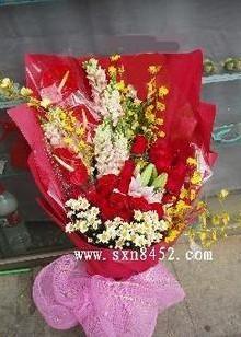 石夏兰【雄心壮志】红掌3片鲜花图片展示。