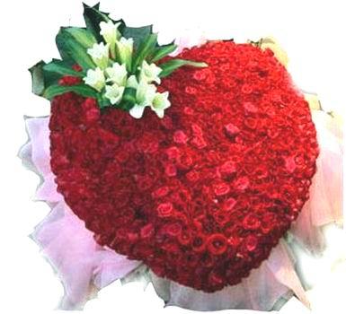 石夏兰999朵心形玫瑰鲜花图片展示。