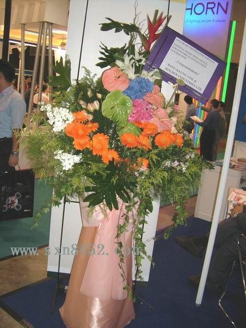 石夏兰太阳花,百合,港式开业花篮,农科中心,香蜜湖鲜花图片展示。
