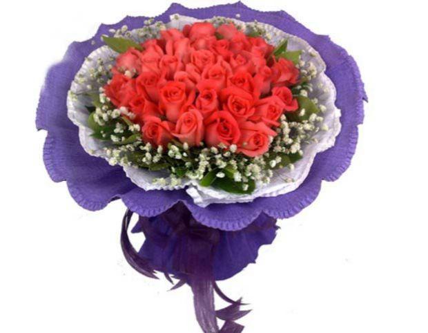 石夏兰33朵粉玫瑰,男女朋友,爱情,生日花束,深圳岗厦,皇岗,龙华,强北花店,定送,花鲜花图片展示。