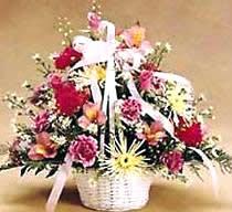 石夏兰节日交际花篮鲜花图片展示。