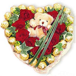 石夏兰24粒巧克力鲜花图片展示。