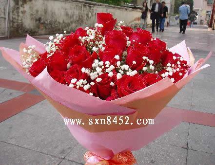 石夏兰6朵玫瑰花 生日鲜花图片展示。