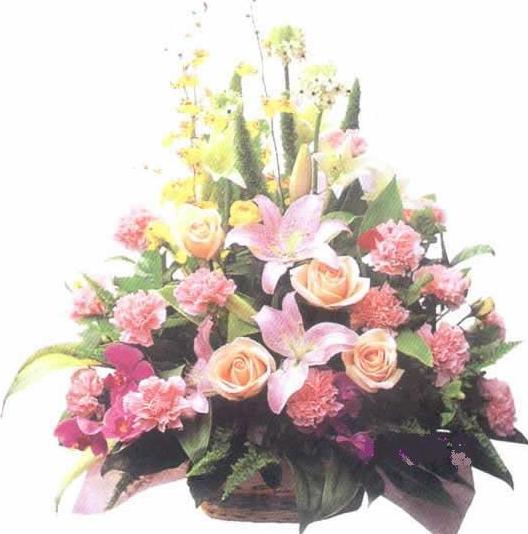 石夏兰百变花篮――**送给妈妈的生日礼物鲜花图片展示。