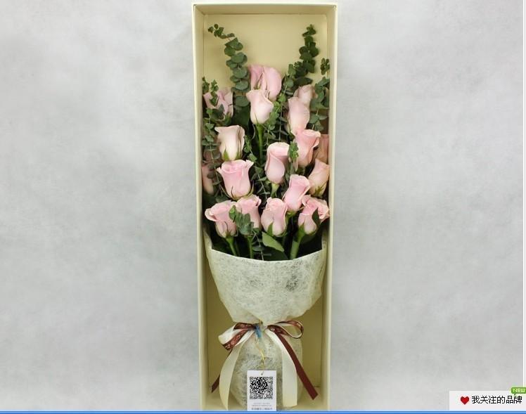 石夏兰进口粉玫瑰花生鲜花图片展示。