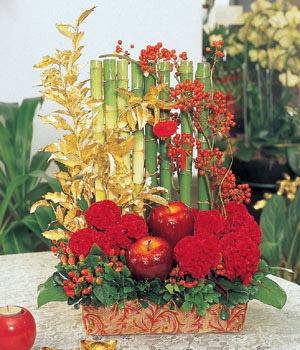 石夏兰【竹报平安,吉星高照】,CEO办公室花篮,新年鲜花,春节祝福花篮,总经理办公室鲜花,前台节日装饰鲜花图片展示。