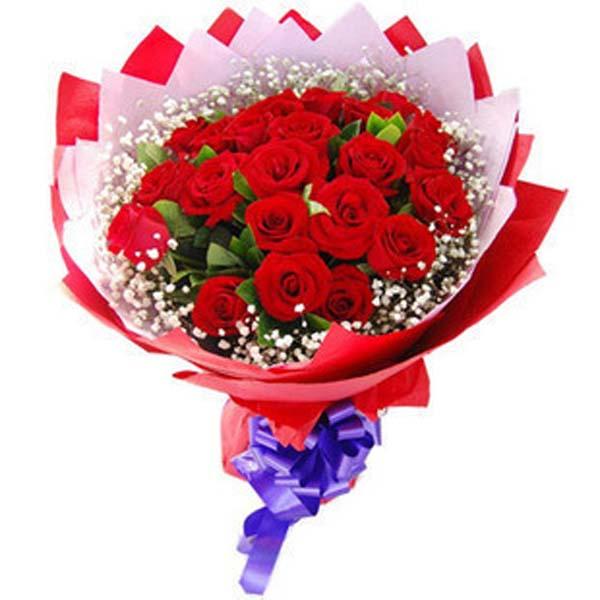 石夏兰生日鲜花,19朵红玫瑰,优价位,鲜花速递,深圳玫瑰花,送爱人,朋友,花店鲜花图片展示。