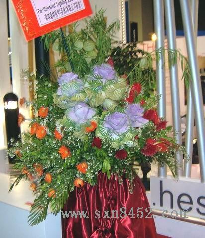 石夏兰开业仪式鲜花,会展花篮,会展中心,八卦岭鲜花图片展示。