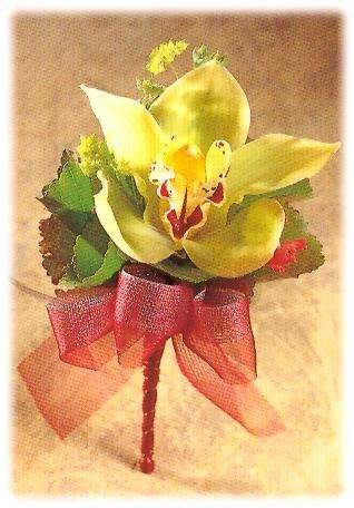 石夏兰黄百合胸花鲜花图片展示
