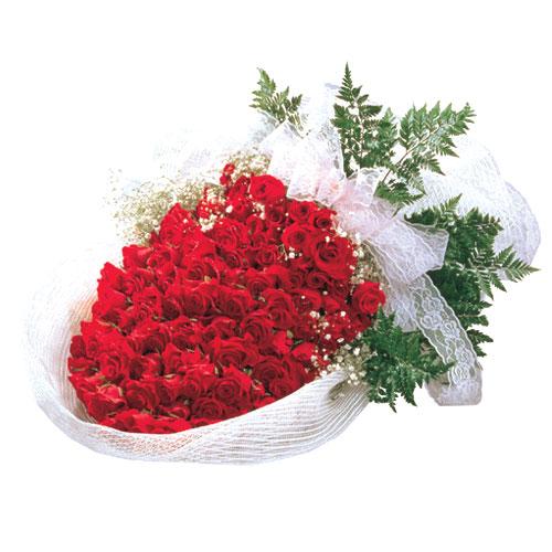 石夏兰365朵红玫瑰鲜花图片展示。