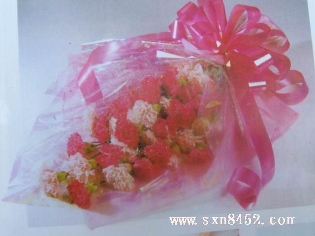 石夏兰19红色康乃馨鲜花图片展示。