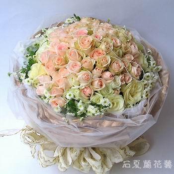 石夏兰144朵香槟玫瑰,深圳市南山花店,快递,蛇口,沃尔玛,生日鲜花,爱情礼物,送给最心爱的人鲜花图片展示。