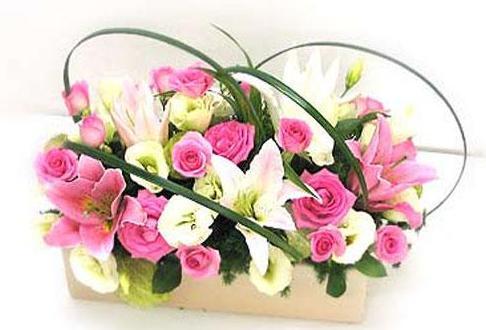 石夏兰豪华靓丽花篮鲜花图片展示。