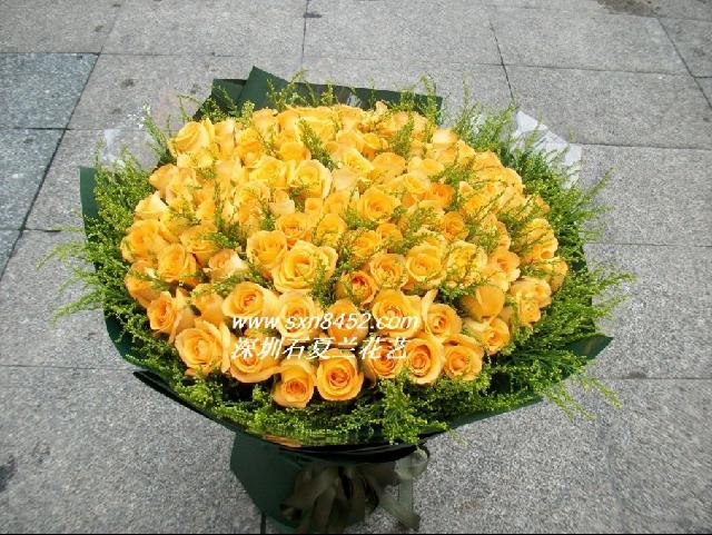 石夏兰99朵假日公主玫瑰花,朋友,同事,生日,梅林附近花店,送花网,同城玫瑰,低价鲜花图片展示。