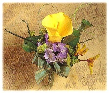 石夏兰嘉宾胸花鲜花图片展示。