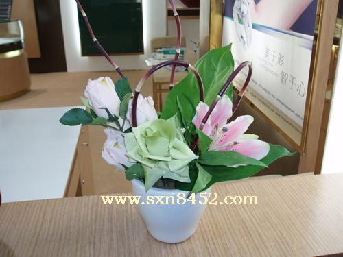石夏兰客厅摆放鲜花图片展示。