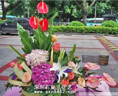 石夏兰【繁荣昌盛】职务祝贺花篮鲜花图片展示。