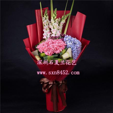 石夏兰康乃馨花束鲜花图片展示