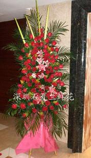 石夏兰和谐号,大三层花篮,惊爆价,大三鲜花图片展示。