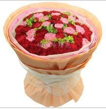 石夏兰30朵康乃馨花束,母亲节妈妈生日鲜花图片展示。