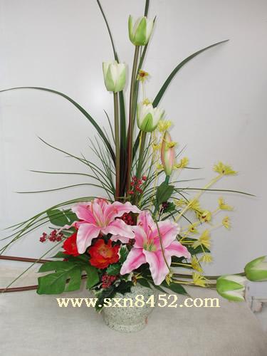 石夏兰美化家居仿真花艺鲜花图片展示。