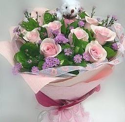 石夏兰【生日】粉玫瑰花束鲜花图片展示