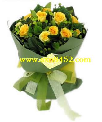 石夏兰暗恋送花,13朵,罗马假日玫瑰,中心区,鲜花竹子林,鲜花鲜花图片展示。