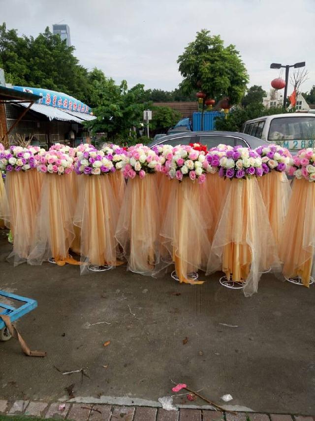 石夏兰仿真花路引 商场店面 廊道 厅堂 活动区装饰用花鲜花图片展示。