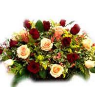 石夏兰玫瑰花篮鲜花图片展示。