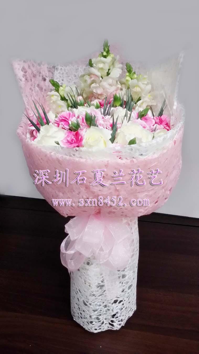 石夏兰探望长者,送老师鲜花图片展示