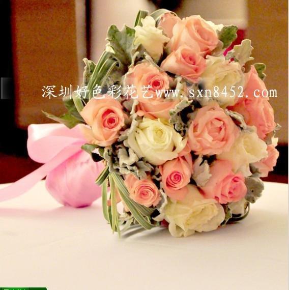 石夏兰高端进口玫瑰花手捧花鲜花图片展示