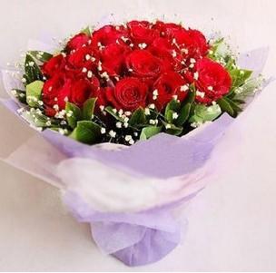 石夏兰19朵红玫瑰花鲜花图片展示