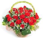 石夏兰【爱情之花】生日玫瑰篮鲜花图片展示。